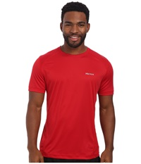 Marmot Windridge S S Team Red Men's Short Sleeve Pullover Multi