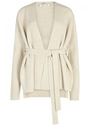 Helmut Lang Cream Wool Blend Cardigan