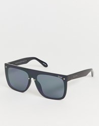 Quay Australia Jaded Flatbrow Sunglasses In Black