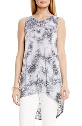 Women's Two By Vince Camuto High Low Burnout Tee Rich Black
