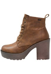 Mtng High Heeled Ankle Boots Karma Brown