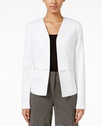 Alfani Petite Collarless Open Front Blazer Only At Macy's Bright White
