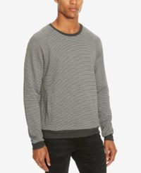 Kenneth Cole Reaction Men's Stripe Sweater Charcoal Heather