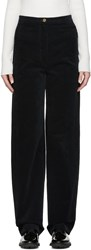 Christophe Lemaire Navy High Rise Corduroy Trousers
