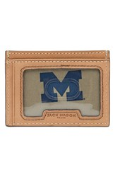 Men's Jack Mason Brand 'Gameday Michigan Wolverines' Leather Card Case