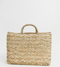 South Beach Exclusive Straw Bag Beige