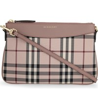 Burberry Peyton Canvas Clutch Ash Rose Dusty Pink