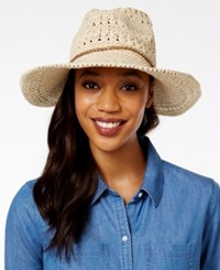 Inc International Concepts Crochet Beaded Cowboy Hat Only At Macy's Natural