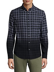 Madison Supply Ombre Plaid Woven Shirt Caviar