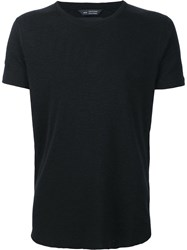 Wings Horns Short Sleeved Crewneck T Shirt Black