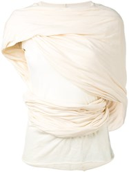 Rick Owens Bundle Top Women Cotton 40 Nude Neutrals