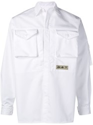 Junya Watanabe Man Patch Pockets Shirt Jacket White