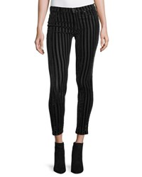 Hudson Nico Mid Rise Skinny Ankle Jeans Linear