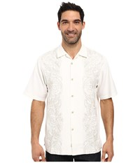 Tommy Bahama Verdara Vines Shirt Continental Men's Short Sleeve Button Up White