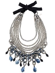 Night Market Crystal Chunky Necklace Metallic