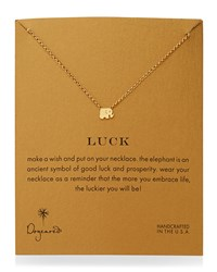 Luck Elephant Pendant Necklace Gold Dogeared