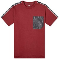 Coach Horse And Carriage Tape Pocket Tee Burgundy