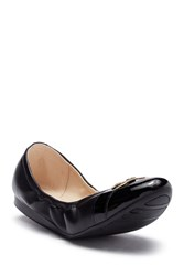 Cole Haan Terrin Leather Ballet Flat Black Leat