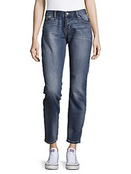 Jean Shop Whiskered Cropped Jeans Medium Wash