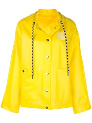 Proenza Schouler Short Printed Raincoat Yellow