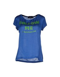 Twin Set Jeans Topwear T Shirts Women Blue