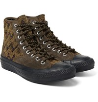 Converse Missoni All Star Chuck '70 Hiker Boucle And Suede Sneakers Chocolate