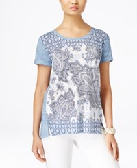 Styleandco. Style And Co. Paisley Print Short Sleeve Top Only At Macy's Paisley Dreams