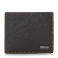 Dune Osmar Saffiano Leather Wallet Brown