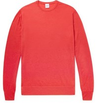 Aspesi Slim Fit Cashmere Sweater Coral