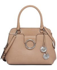 Calvin Klein Reese Small Top Handle Satchel Oatmeal
