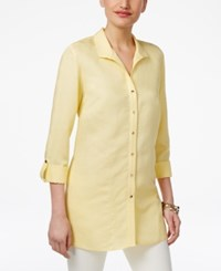 Jm Collection Wing Collar Roll Tab Shirt Only At Macy's Straw Hat