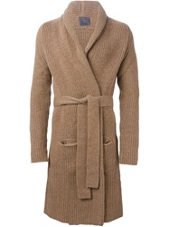 Laneus Knit Robe Coat Brown
