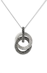 Women's Judith Jack Pave Double Circle Pendant Necklace Marcasite Crystal