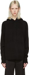 Alexander Wang T By Black Wool And Cashmere Hoodie