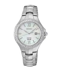 Seiko Coutura Diamond And Stainless Steel Bracelet Watch Silver