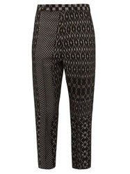 Haider Ackermann Cropped Jacquard Trousers Grey
