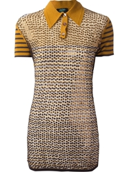 Jean Paul Gaultier Vault Sequined Polo Yellow And Orange