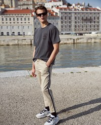The Kooples Beige Chinos With Navy Blue And White Band