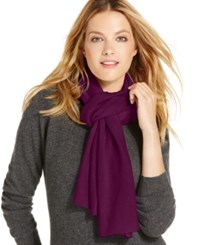 Charter Club Jersey Knit Cashmere Muffler Only At Macy's Black Cherry