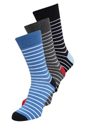 Zalando Essentials 3 Pack Socks Grey Blue