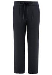 Evans Palazzo Trousers Navy Blue Dark Blue