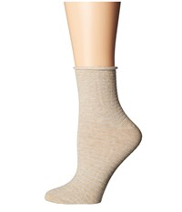 Richer Poorer Hari Ankle Oatmeal Women's Crew Cut Socks Shoes Brown