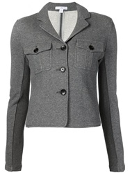 James Perse Cropped Military Jacket Grey
