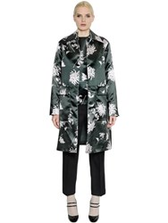 Rochas Floral Printed Duchesse Coat