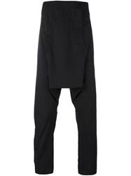 Barbara I Gongini Print Detail Drop Crotch Trousers Black