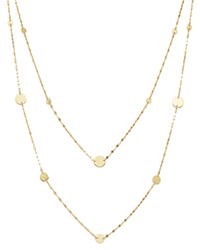 Moon And Meadow Layered Flat Link Disc Station Necklace In 14K Yellow Gold 16 100 Exclusive