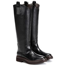 Brunello Cucinelli Leather Knee High Boots Brown