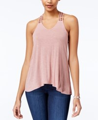 American Rag Crocheted Back High Low Tank Top Only At Macy's Pale Mauve