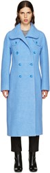 Carven Blue Wool Coat