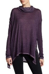 Wild Pearl Long Sleeve Cowl Neck Tunic Purple